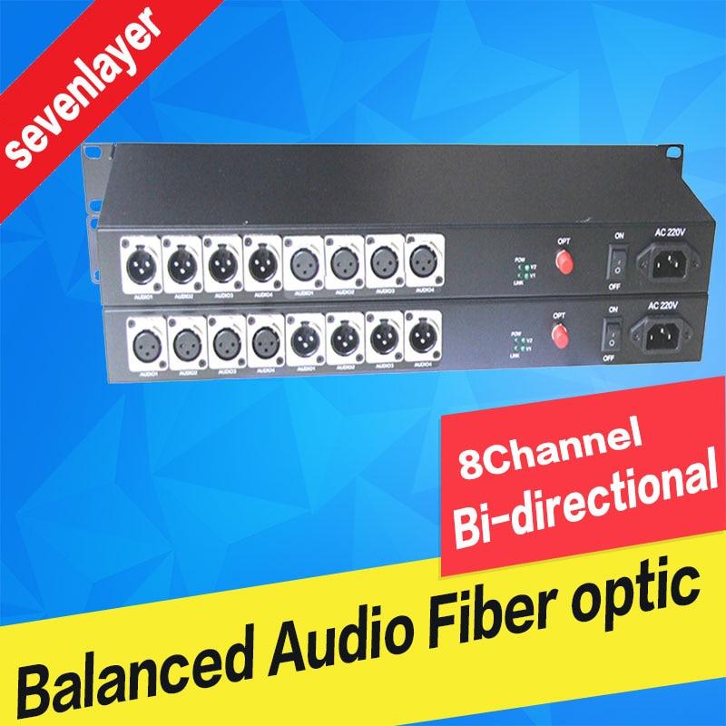 4ch Bi-directional Balanced Audio To Fiber Optic XLR Over Fiber Audio Fiber Media Converter Transceiver And Receiver
