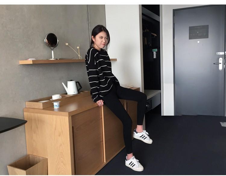 19 thin waist jeans nine Korean female grey legging feet pencil pants 9 black women jeans 7