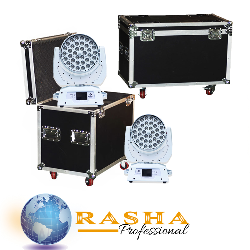 (Pack of 2 with case)Rasha Hex Kaboom 648 LED Moving Head Wash Light 36*18W Zoom LED Moving Head Light Stage Moving Head Light