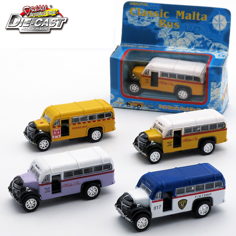 1 64 skala go klassische mini malta bus kinder spielzeug 5 cm metall auto f r kinder jungen. Black Bedroom Furniture Sets. Home Design Ideas