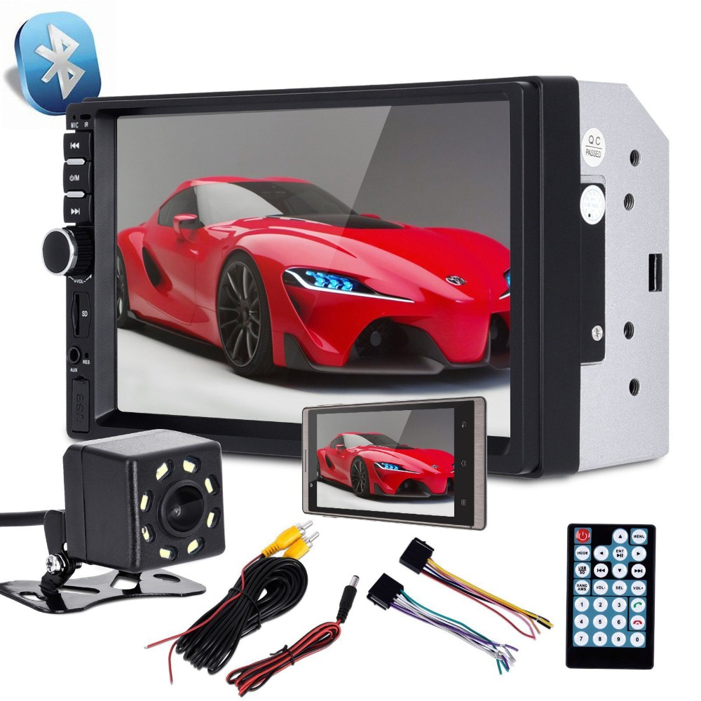 Kingslim Car Radio <font><b>MP5</b></font> player <font><b>7018B</b></font> Touch Screen mirror link 7inch Multimedia Player USB 2din Car <font><b>MP5</b></font> Player+Rear View Camera image