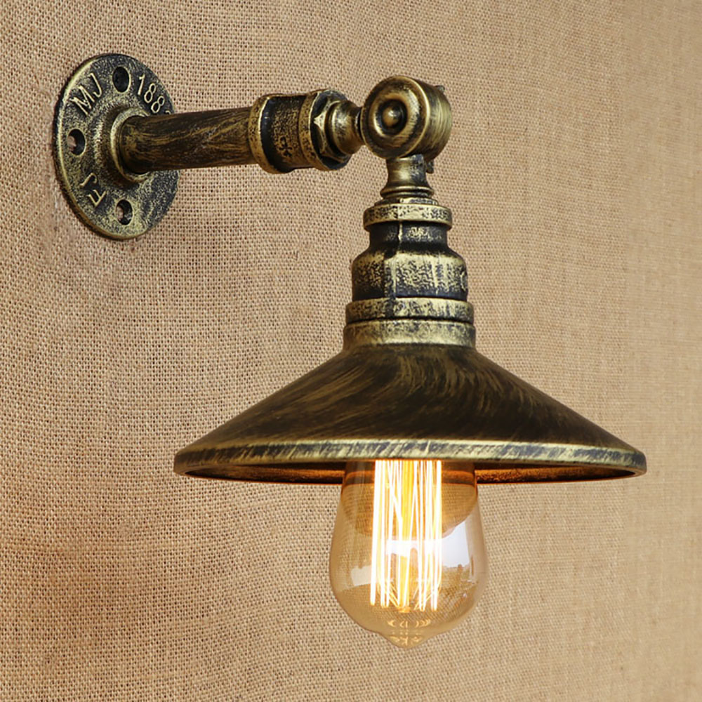 4 color Retro metal rust loft vintage Water pipe wall lamps with led/edison e27 lights for bar cafe bedside bedroom living room steampunk loft 4 color iron water pipe retro wall lamp vintage e27 e26 sconce lights for living room bedroom restaurant bar