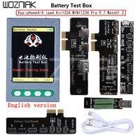 Английский Батарея тестер для iPhone X 8 8 P 4 7 P для iPad iWatch Батарея проверки для iPhone кабель USB тестер ясно цикл