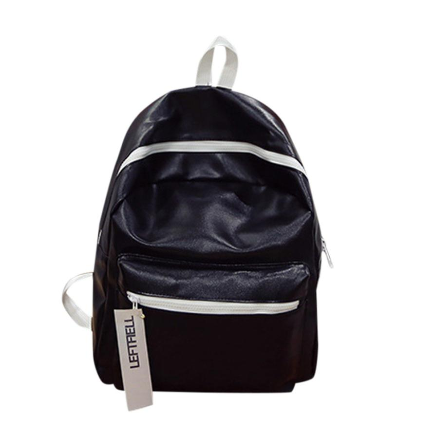 New arrival PU Leather Women Backpack Fashion Solid School Bags For Teenager Girls Large Capacity Casual Women Backpack Men
