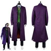 Бэтмен Темный рыцарь шутка костюм Косплэй полный набор для взрослых Для мужчин Хэллоуин карнавальные костюмы