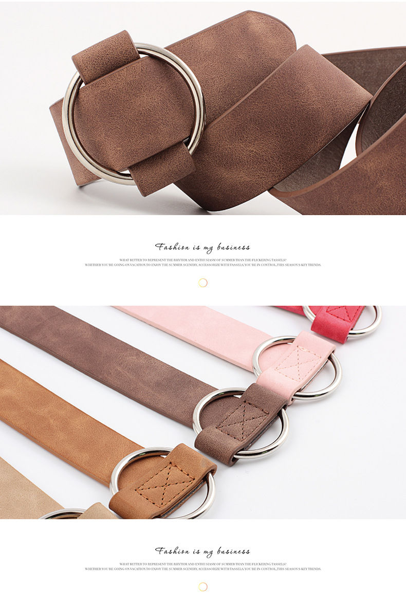 HTB1yCq3L9zqK1RjSZFjq6zlCFXaF - Women leather belt Newest Round buckle belts female leisure jeans wild without pin metal buckle Women strap belt