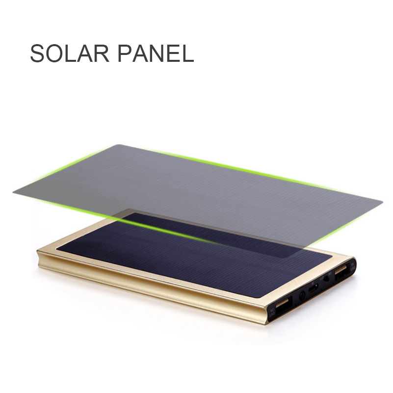 20000mAh Solar Power Bank External Battery quick charge Dual USB Powerbank  3