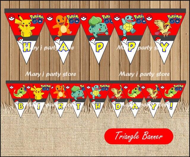 Pokemon Go Banner Baby Shower Pokemon Go Birthday Party Decorations