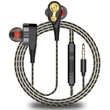 Double Unit Drive In Ear Earbuds Earphone Bass Subwoofer for Phone DJ Mp3 Sport Earphones Headset Earbud Auriculares