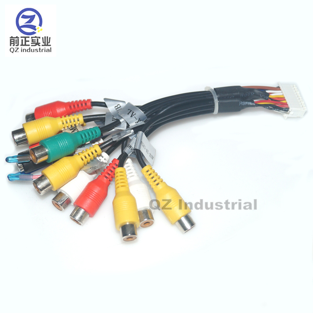 24 Pin Plug Car Stereo Radio Rca Output Wire Harness Wiring Panasonic Along With Toyota 20 Connector Qz Industrial Pins Cables Wires For Android Windows Ce Dvd Player And