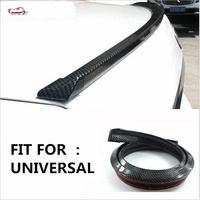 Free Shipment Universal Car Decorative Strips Carbon Fiber Rear Lip Skirt Protector Car Rear Roof Spoiler