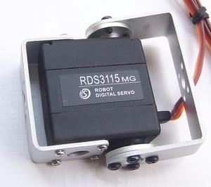 Image 1 - 1XOriginal nhà máy Robot servo 15kg RDS3115 Hộp số kim loại kỹ thuật số servo Arduino servo với Dài và Ngắn Thẳng U