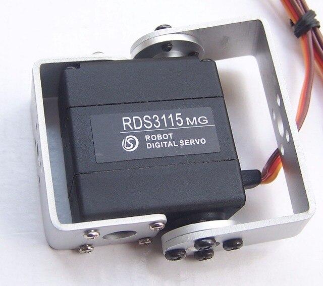 1XOriginal nhà máy Robot servo 15kg RDS3115 Hộp số kim loại kỹ thuật số servo Arduino servo với Dài và Ngắn Thẳng U