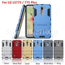 Iron Man Phone Sets Cover Housing For For LG LS775/775Plus Shockproof Back Cover 3D Phone Cases 3 In 1 TPU+PC+Stand Good Quality