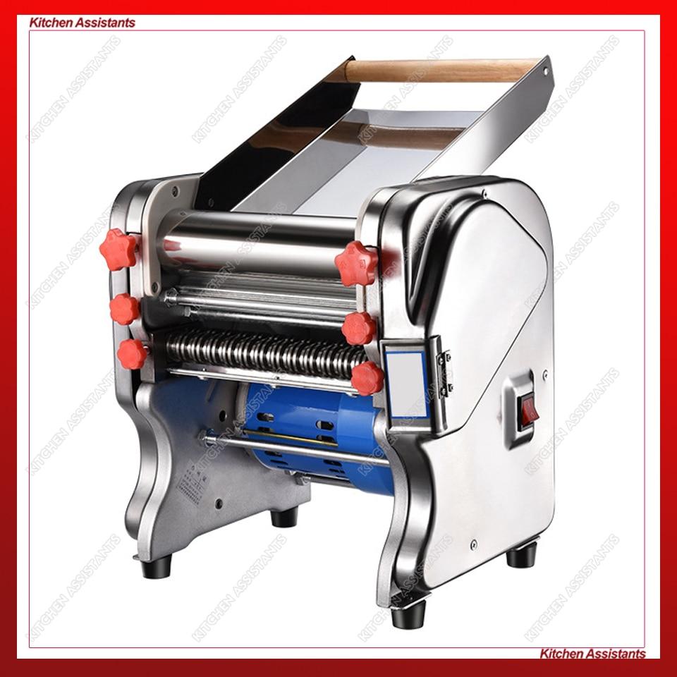 FKM220 Electric Dough Roller Stainless Steel Dough Sheeter Noodle Pasta Dumpling Maker Machine 220V Roller and