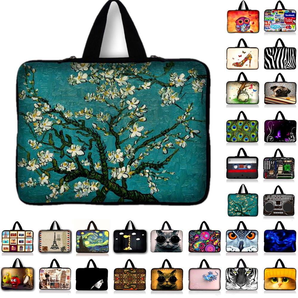 7 10 11.6 13.3 14 15.6 17.3 17.4 inch Laptop Bag Neoprene Pouch Cover Bags For Tablet Mini PC Notebook Case For Lenovo HP Acer