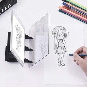 Image 1 - Tablette graphique avec miroir éclairé, pochoir réfléchissant, intensité variable, planche à dessin, écriture pour croquis, pour projet de téléphone