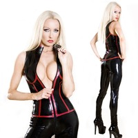 Catwoman costume Black Vinly Faux Leather Wet Look Zipper Bandage Catsuit Catwoman Bodysuit Jumpsuit Superhero Cosplay Costume