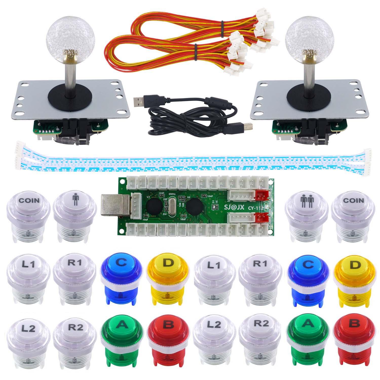 цена на SJ@JX 2 Player Arcade Game DIY Kit Arcade Joystick Controller Mechanical Keyboard Switch Retropie Raspberry MAME Arcade Button