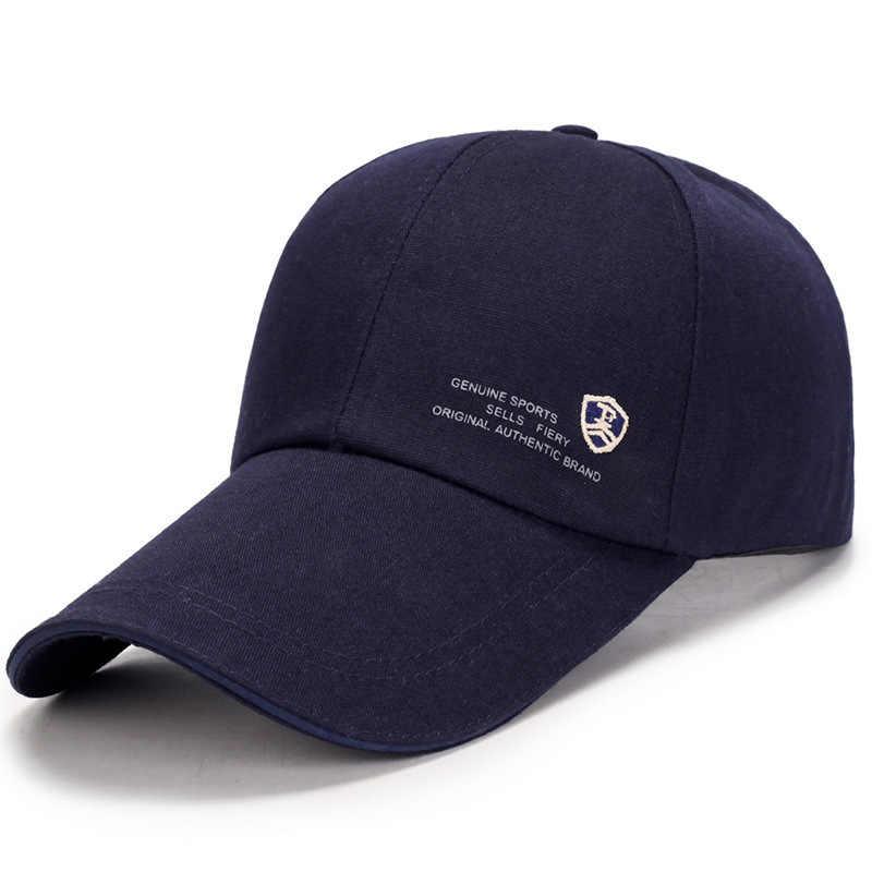 رخيصة الصلبة البيسبول قبعات للرجال النساء مع طويلة حافة قبعات لا تغطي الرأس بالكامل قبعة العظام Gorras الفقرة Hombre Snapback أبي قبعة