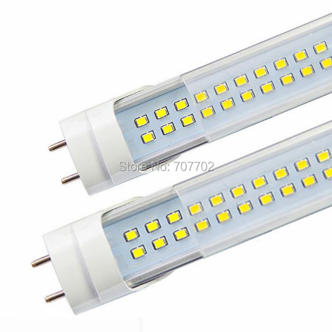 2ft SMD 3528 144led double line LED tube light lamp LED fluorescent tube T8 G13 AC85-265V 18W SMD3528 2000lm 0.6M 600mm 10PCS ...