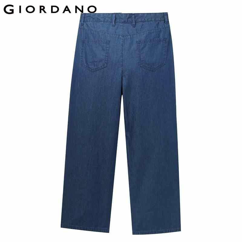 Giordano женские джинсовые джинсы женские тонкие стильные широкие брюки длиной до щиколотки на молнии, женские джинсы Модные Карманы Feminino