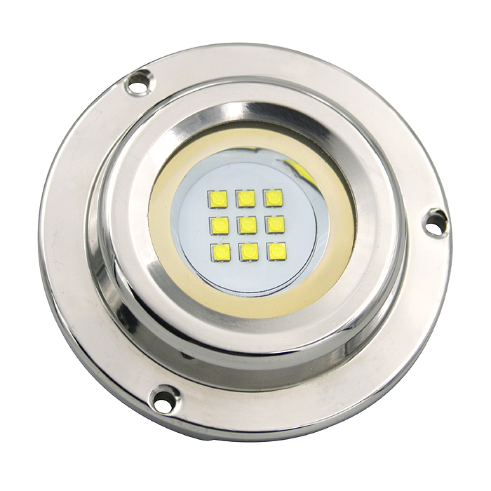 12v 27w 316 Stainless steel IP68 Waterproof led underwater marine courtesy light boat dock deck light submersible light TP-B27 стоимость