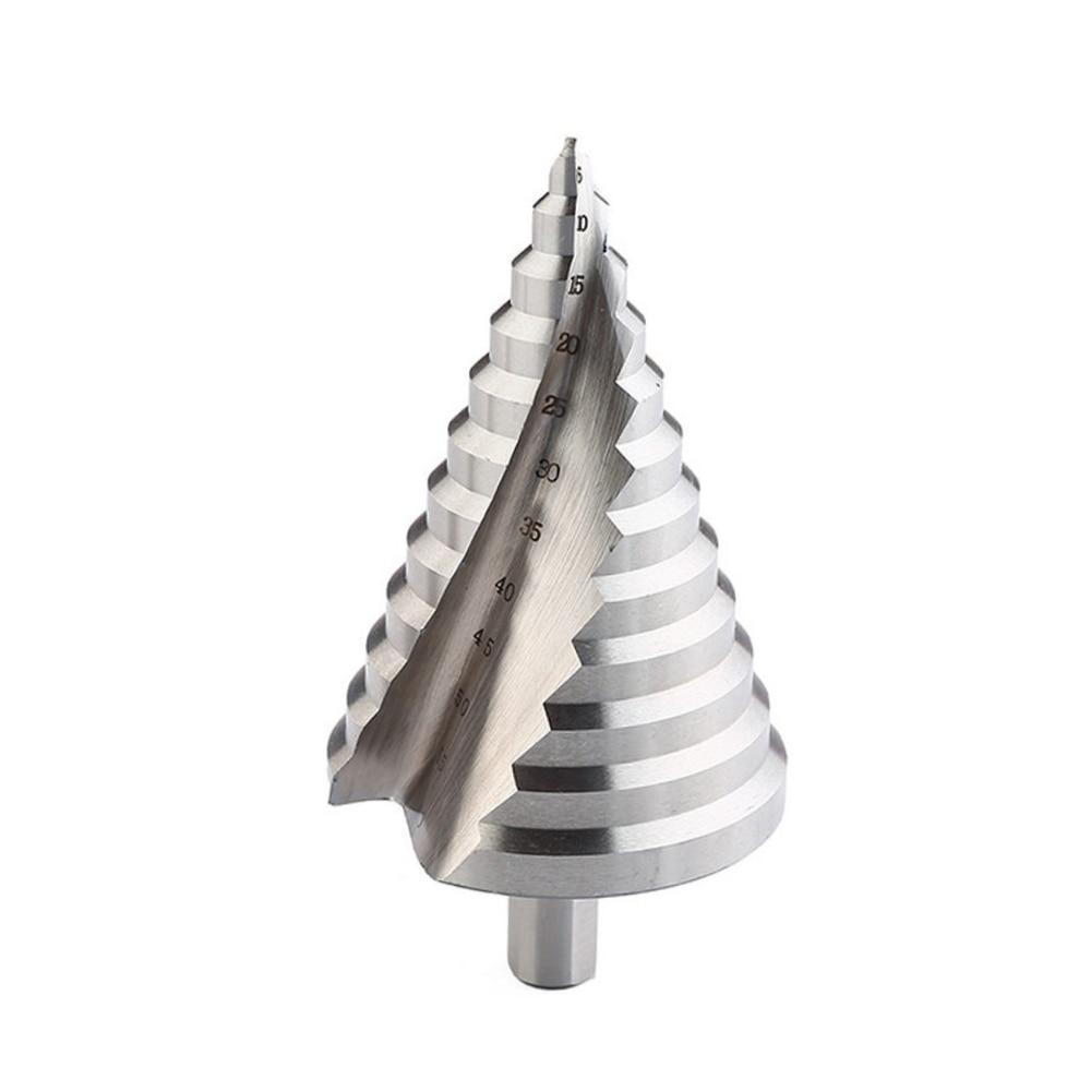 6-60mm Spiral Groove Steps Drill Bit 12 Steps Reaming Hole Cut Twist Drill Tool