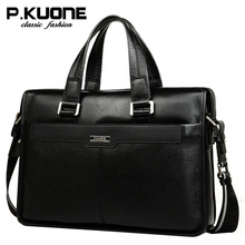 Leather bag handbag genuine leather man bag commercial cross-body first layer of cowhide briefcase male все цены