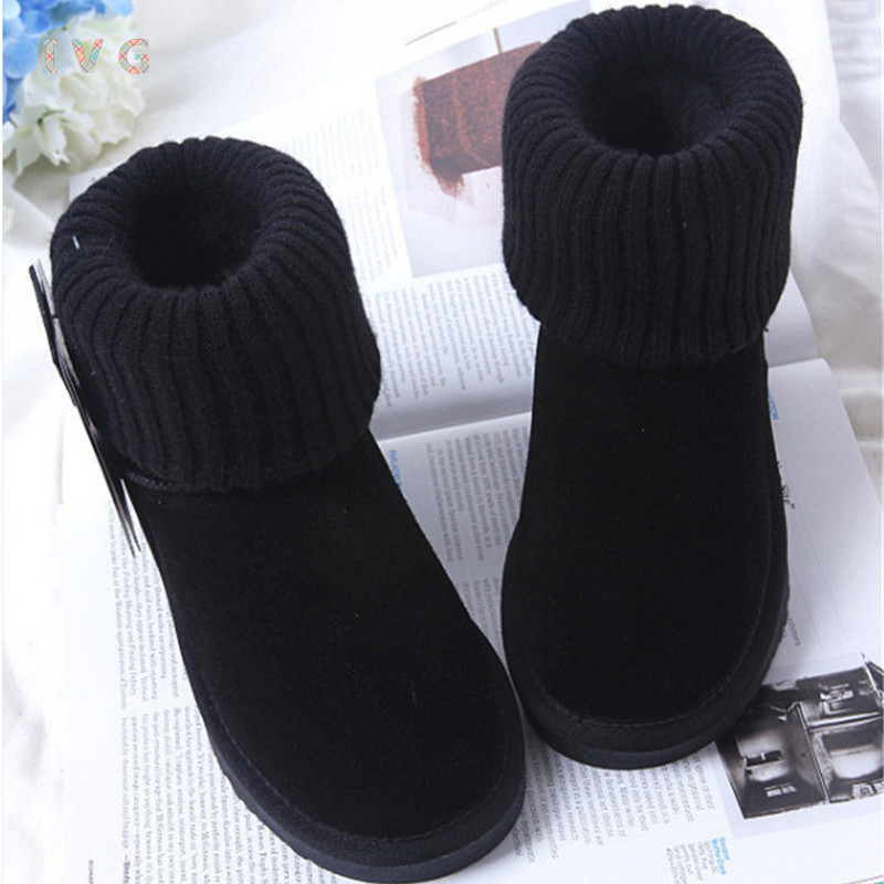 new 2017 Australia Classic Cover the hair line mouth Snow Boots ug Womens winter boots Warm Leather Ankle Boots IVG size 4-13