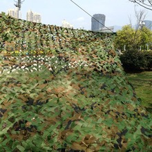 3*2m 4*3m 5*4m 1pcs Green Hunting Military Camouflage Net Woodland Army Camo netting Camping Sun ShelterTent Shade sun shelter