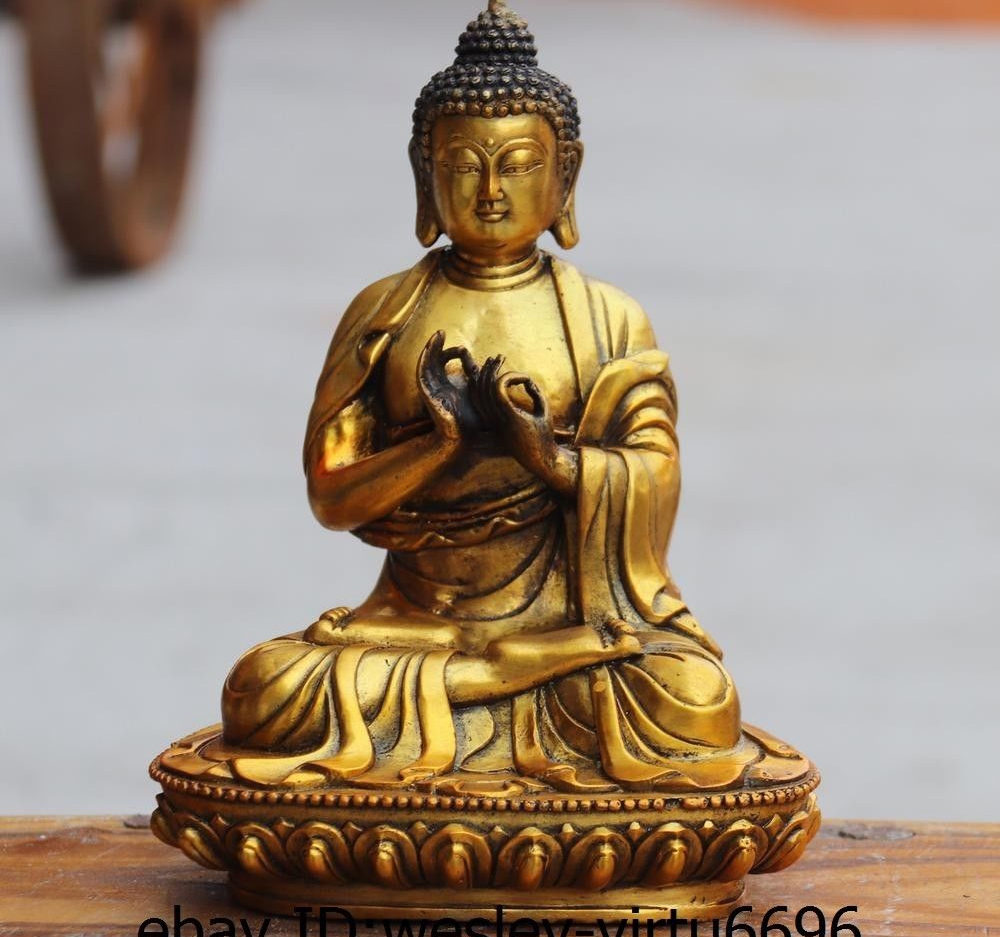 China Buddhism Copper Bronze Gild Sakyamuni Shakyamuni Tathagata Buddha StatueChina Buddhism Copper Bronze Gild Sakyamuni Shakyamuni Tathagata Buddha Statue