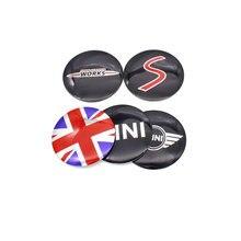 luluda 4pcs Free shipping 56 5mm for mini Car modification Wheel Center Hub Cap Badge Emblem
