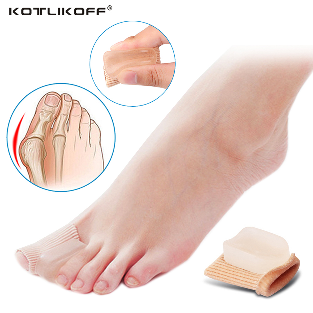 KOTLIKOFF Orthopedic insole Silicone Gel Toes&Finger Protector Separator Insoles for Foot Pain Relief Cushion Hallux Valgus 1pc big toe separator foot care tool separators stretchers foot pads adjustable hallux valgus orthopedic insoles pain relief