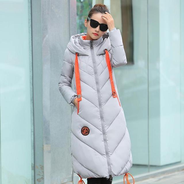 Hoodies blusão de Inverno Mulheres casaco quente roupas casaco Longo Casaco Acolchoado mais grosso Para Baixo Parka 2016 Moda
