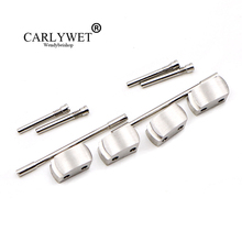 цены CARLYWET Wholesale 1 Set Plated Conversion Kit for Royal Offshore 42mm Watch Rubber Steel End Link