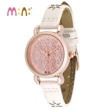 Reloj Mujer M:N: العلامة التجارية النساء الساعات مقاوم للماء السيدات الذهب كوارتز ساعة معصم امرأة الموضة بنات ساعة أطفال Relogio Feminino