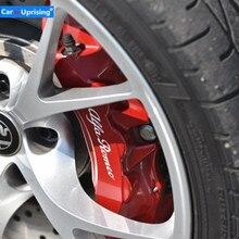 Alfa romeo 용 4 pcs 비닐 브레이크 캘리퍼스 데칼 스티커 자동차 로고 엠블럼 배지 스티커 for giulietta mito 147 156 159 166