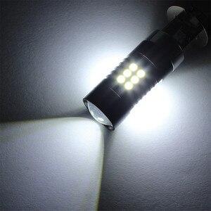 Image 5 - مصابيح كهربائية للسيارات 2 قطعة LED أضواء الضباب لسيارة 12 فولت تيار مستمر H3 3030 21 LED أضواء الأبيض 6500K سيارة الضباب رئيس ضوء مصباح المصباح