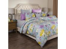 Комплект постельного белья семейный SANTALINO, ЦВЕТЫ, серый