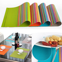 2015 New Rushed Placemats For Table 4pcs/set Pvc Placemat Coasters Bowl Pad Mat Cooking Tools Kitchen Cabinet Ikea