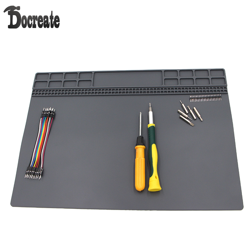 35x25cm Heat-resistant Silicone Pad Desk Mat Maintenance Platform Heat Insulation BGA Soldering Repair Station silicone heat resistant mat orange