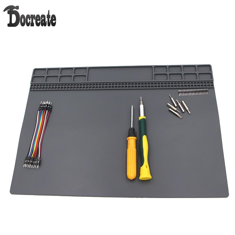 35x25cm Heat-resistant Silicone Pad Desk Mat Maintenance Platform Heat Insulation BGA Soldering Repair Station