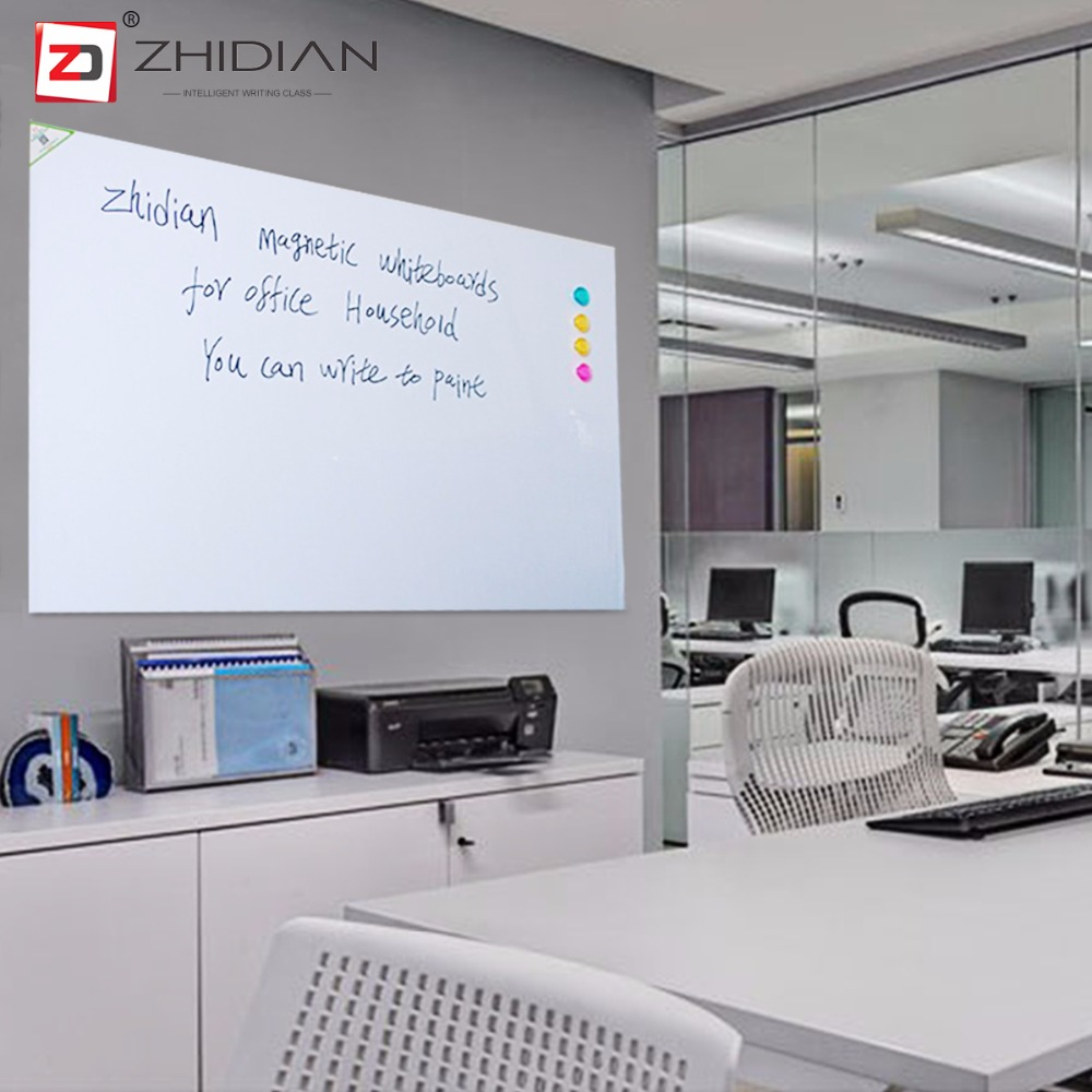 ZHIDIAN 48*95 Magnetic White boards Dry Erase Surface Adhesive classroom office provides space make lists doodle write notes activboard touch 88 dry erase 10 касаний по activinspire