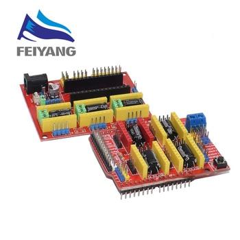 Новый CNC Щит V4 щит v3 гравировальный станок/3D принтер/A4988 Плата расширения драйвера для arduino Diy Kit