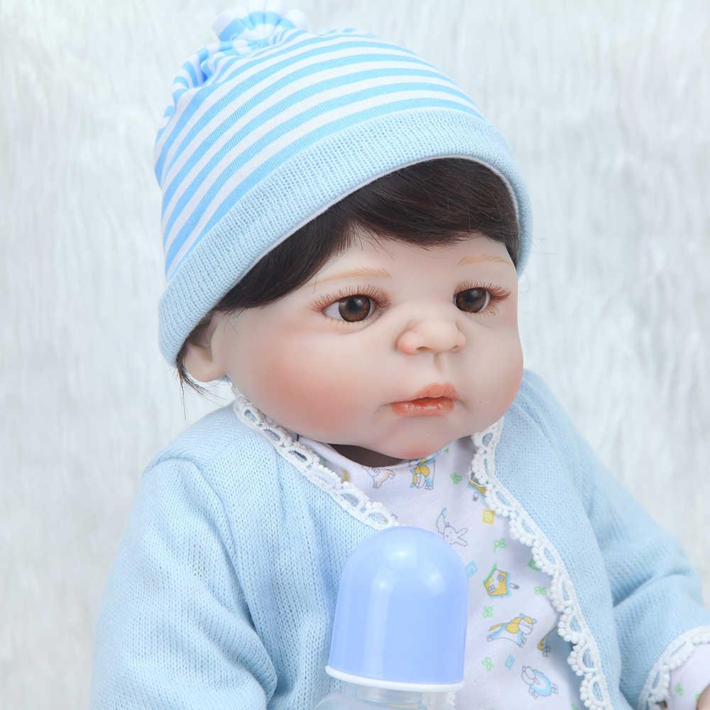 """Силиконовые куклы Reborn 23 """"Boneca реалистичные куклы ремесло для маленьких мальчиков модные детские игрушки водонепроницаемые подарки на день рождения Модель"""
