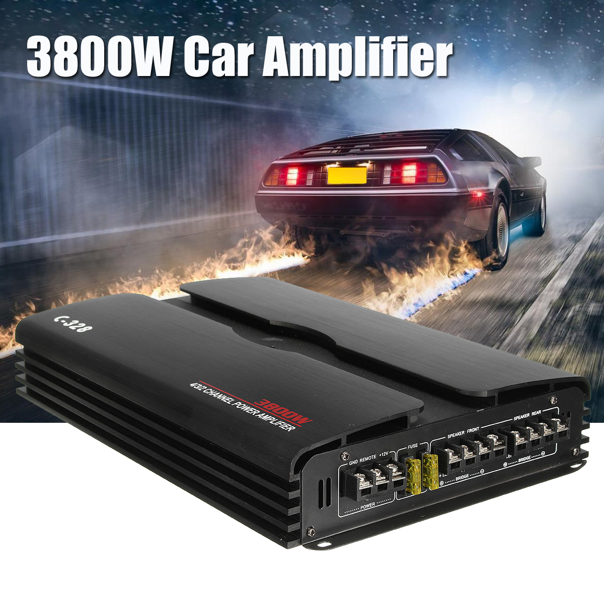 3800W RMS 4/3/2 Kanal 12V Leistungsstarke 4Ohm Auto Audio Power Verstärker Subwoofer Auto Lkw stereo Verstärker Lautsprecher
