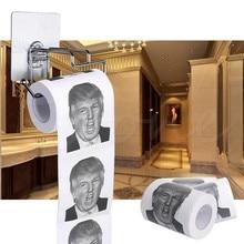 Дональд Трамп Humour рулон туалетной бумаги Новинка Забавный кляп подарок Свалка с Трампом 2 слоя 240 листов