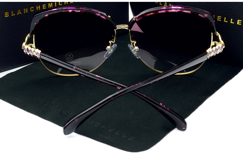 HTB1yCugbfNNTKJjSspeq6ySwpXal - Blanche Michelle 2018 High Quality Square Polarized Sunglasses Women Brand Designer UV400 Sun Glasses Gradient Sunglass With Box