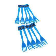 10pcs/lot Batman Theme Disposable Tableware Supplies Forks Spoons Knives Christmas Birthday Party Decoration For Home Boy(China)